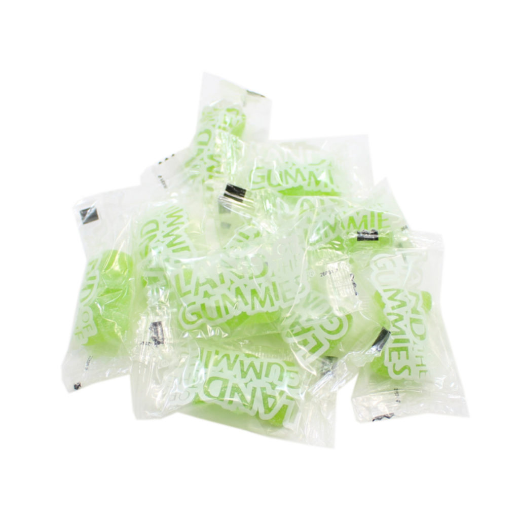 Individually Wrapped Green Gourmet Gummy Bears
