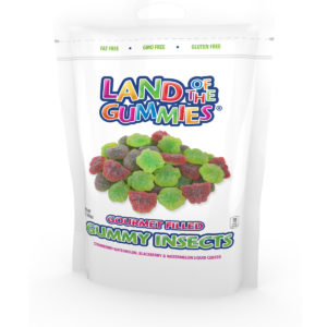 Gourmet Filled Gummy Insects 7oz Stand Up Pouch
