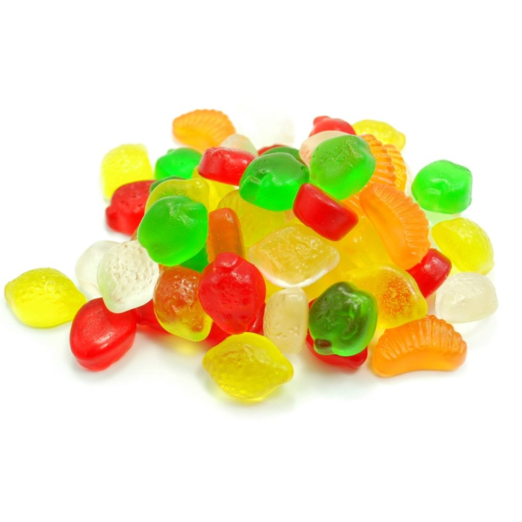 Sugar Free STEVIA Gummy Fruit Shapes